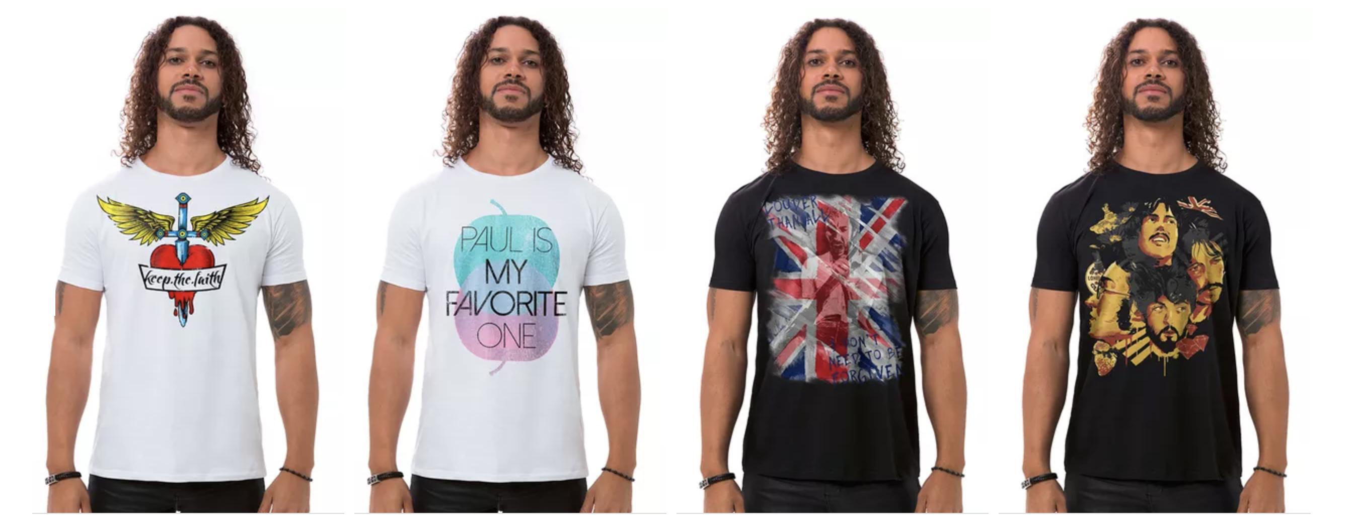 Camisetas Masculinas Rock